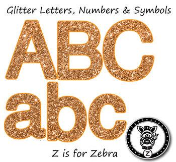 Alphas Glitter Clip Art Letter Numbers & Symbols! Alpha
