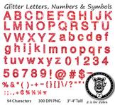 Alpha Glitter Characters! Alpha