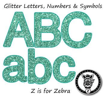 Alphas Glitter Letter Numbers & Symbols! Alpha