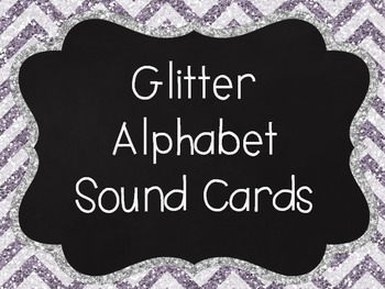 Glitter Chevron Alphabet cards