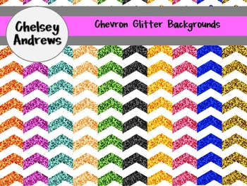 Glitter Chevron Background Set {Personal or Commercial Use}