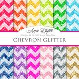 Glitter Chevron Digital Paper sparkle glittery texture scr