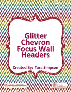 Glitter Chevron Focus Wall Headers