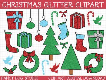 Christmas - Glitter Clipart