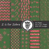 Glitter Christmas Digital Paper Pack 2 - CU OK! { ZisforZebra }
