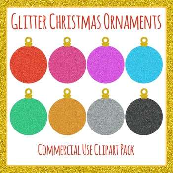 Glitter Christmas Ornaments / Baubles Commercial Use Clpart