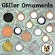Glitter Christmas Ornaments Clip Art