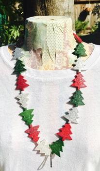 Glitter Christmas Tree Lanyard