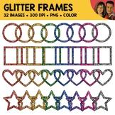 Glitter Frame Shapes Clipart