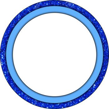 Glitter Circle Frames by Teacher\'s Lounge   Teachers Pay Teachers
