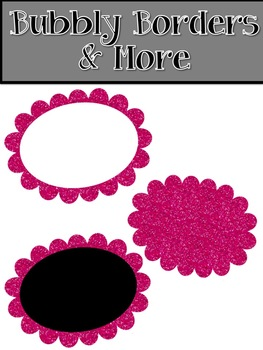 Glitter Circle Frames~ Commercial Use