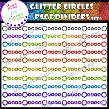 Glitter Circle Page Dividers Set 1