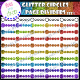 Glitter Circle Page Dividers Set 1