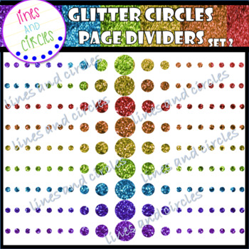Glitter Circle Page Dividers Set 2