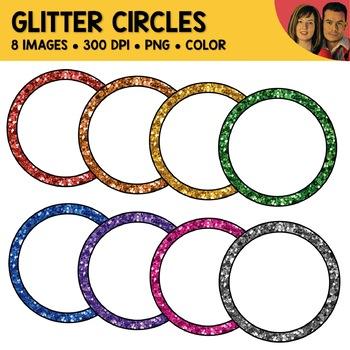 FREE Glitter Circle Clipart