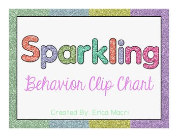 {Glitter Classroom Behavioral Clip Chart}