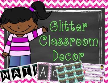 Glitter Classroom Decor