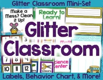 Glitter Classroom Decor Packet
