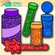 Glitter Clip Art {Shakers, Containers, & Tubes for Classroom Posters, Resources}