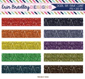 Glitter Clipart - Colorful Washi Tape Graphics