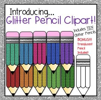 Glitter Clipart Pencils