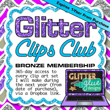Glitter Clips Clip Art Club Bronze Membership Subscription