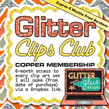 Glitter Clips Clip Art Club Copper Membership Subscription Service
