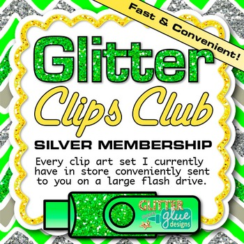 Glitter Clips Clip Art Club Silver Membership Subscription