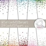 Glitter Confetti Digital Papers and Borders