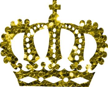 Glitter Crowns Clip Art