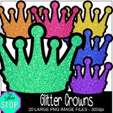 Glitter Crowns Clip Art {The Teacher Stop}