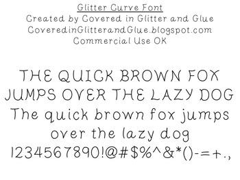 Glitter Curve Font- Free