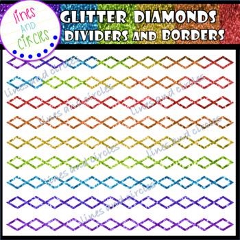 -BUNDLE- Glitter Diamonds Dividers and Borders
