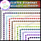-BUNDLE- Glitter Diamonds Dividers and Borders