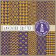 Glitter Digital Paper, Gold  & Lavender Patterns