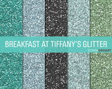 Glitter Digital Paper Textures Breakfast at Tiffany's