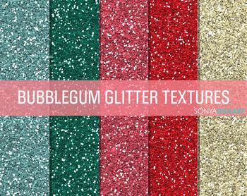 Glitter Digital Paper Textures Bubblegum Glitter