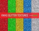 Glitter Digital Paper Textures Christmas Glitters