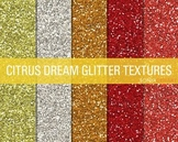 Glitter Digital Paper Textures Citrus Dream