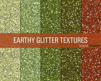 Glitter Digital Paper Textures Earthy Glitters FREEBIE