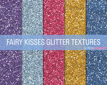 Glitter Digital Paper Textures Fairy Kisses