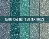 Glitter Digital Paper Textures Nautical Glitters