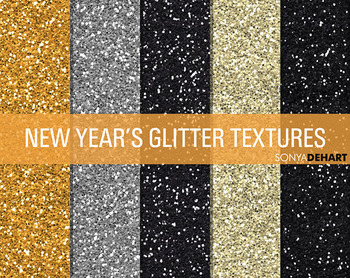 Glitter Digital Paper Textures New Years Glitters
