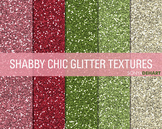 Glitter Digital Paper Textures Shabby Chic