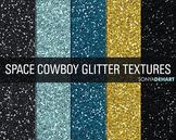Glitter Digital Paper Textures Space Cowboy
