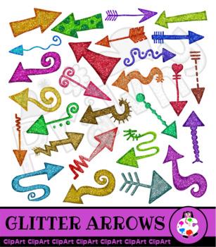 Glitter Doodle Arrow Clip Art