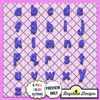Glitter Dough Alphabet Value Pack {Colors}