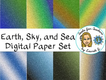 Glitter Earth, Sky, and Sea Digital Papers {for personal and commercial use}