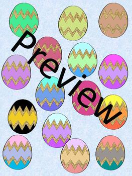 Glitter Easter Eggs Clipart Bilingual Stars Mrs. Partida Clips