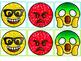 Glitter Emoji Partner Cards {Color-coded for assigning roles in partner set}